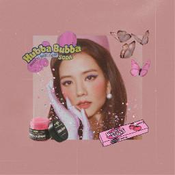 blackpink jisoo kimjisoo kpop aesthetic bubblegum pink tumblr pinkaesthetic freetoedit