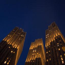 buildings sky light evening dark yellow indigo windows urban city photo photography canon canon700d photoshop photoshopcs5 freetoedit