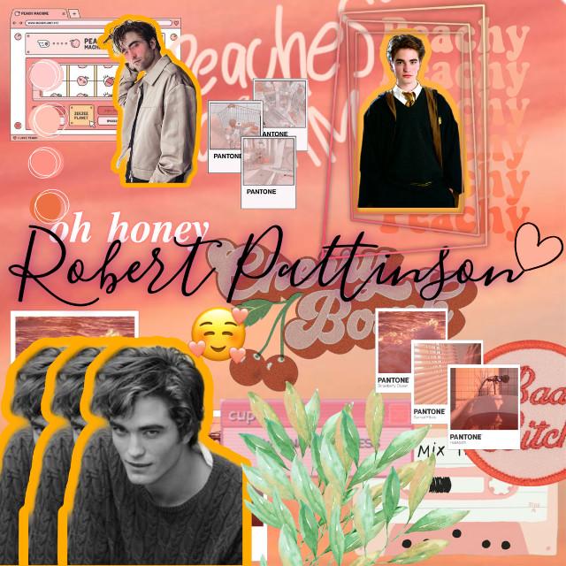 🧡🌻Robert Pattinson🧡🌻                                    For @ma_asdfghjkl ily and u hope you enjoy yhis edit #robertpattinson #peach🍑 #complex #robertpattinsonedit