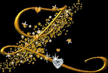 letter z golden alphabet freetoedit