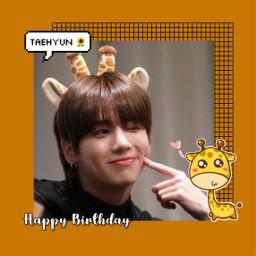 freetoedit txt tomorrowxtogether taehyuntxt taehyun happybirthday happytaehyunday bday giraffe love sweet cute idol art kpop kpopedit