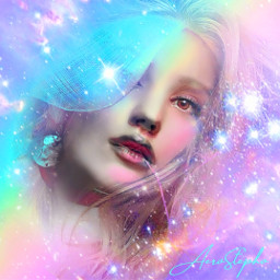 myoriginalwork originalart conceptart womanportrait avantgarde halo