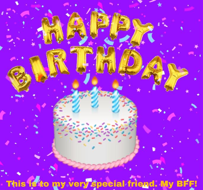 #happybirthday #birthday #bff4ever #birthdaycake #happybirthdaytoyou #purple #purplebaclround #gold #cake #bff