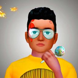 freetoedit digitalpainting cakepop avakinlife goldfish yellow glasses