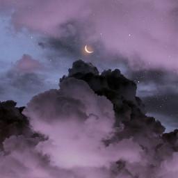 sky skies myphotography myedit skybyizzah editbyizzah cloud clouds star stars moon aesthetic purple purpleaesthetic aesthetics violet sunrise violetaesthetic pastel sunset dreamyaesthetic lofi purplevibes aestheticsky trippy