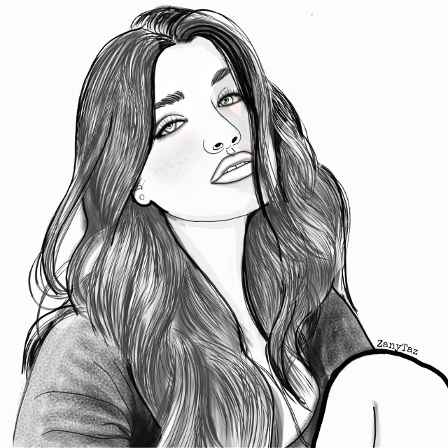 NESSA BARRETT 🔹💙🔹#tiktokstar #tiktok  #lipsync #trendy #trendygirl #drawing #sketch #portrait #teen #outline #outlineart #hairart #blackandwhite #nessa #myart #heypicsart #nessabarrett #fans #madewithpicsart #freetoedit #portraitart