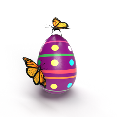 easter egg butterflies monarch 3d maryly freetoedit