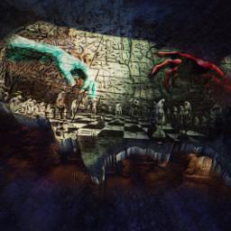 unitedstates goodvsevil chess tunnels underground doubleexposure illusion corrupt freetoedit picsart