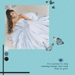 ariana arianagrande famous arianagrandeedit star singer blue blueaesthetic aestheticedit aestheticblue blueedit aesthetic soft vintage softie softedit love heart beautiful beauty butterfly tumblr sweet cute attractive freetoedit