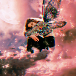 freetoedit butterfly picsartedit sky girls