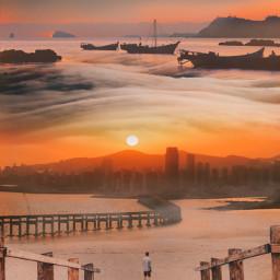 freetoedit myedit myremix surreal parralelworld fxeffects sunrise sunset