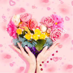 heart pink flower aesthetic valentinesday freetoedit