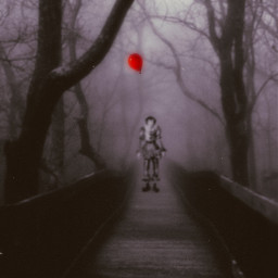 pennywise it creepy red freetoedit