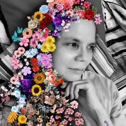 freetoedit eccolorsonblackandwhite colorsonblackandwhite flowers