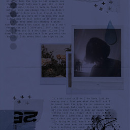 collage blue niebieski kolaż photo vintage aesthetic paper words text face sad freetoedit