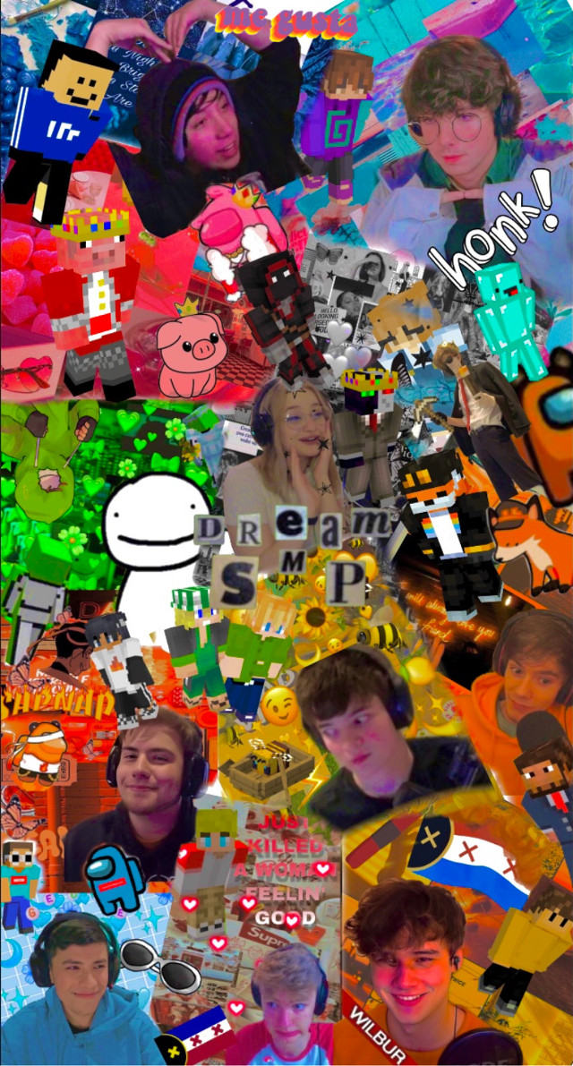 my favorite people in the world 💞 • • • • • #dream #dreamwastaken #dreamteam #dreamsmp #quackity #tubbo #tubbox #tommyinnit #lmanburg #wilbursoot #georgenotfound #niki #nihachu #fundy #karl #karljacobs #sapnap #badboyhalo #bbh #skeppy #jshlatt #technoblade #honk #minecraft #dnf