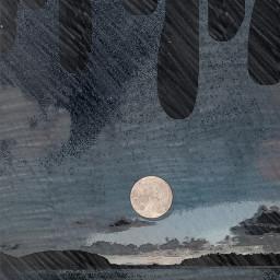 sky beach nighttime drip filter freetoedit