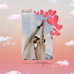 freetoedit love bemine valentine couple kiss hearts valentinesday vday mrssge