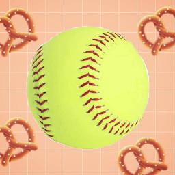softball pretzel freetoedit