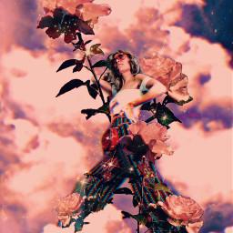 freetoedit sky madewithpicsart heypicsart edit clouds replay girls girl beautiful flowering picsart art woman quotes papicks fotoedit