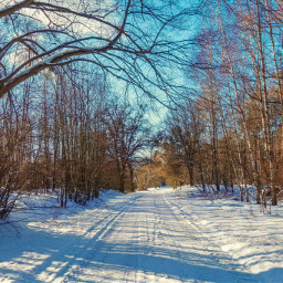 freetoedit winter landscape road nature