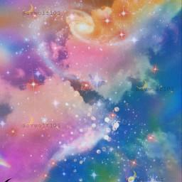 papicks heypicsart sky skyaesthetics background galaxy galazyedit galaxyaesthetic sparkles swirl rainbow rainbowaesthetic freetoedit