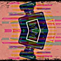 coco cocochanel chanel pink pank perfume desiger fx glitch glitchtrap glitching