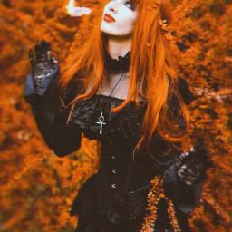 butterflies orange woman nature freetoedit