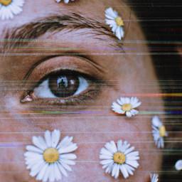 freetoedit eye eyeedit flowers aesthetic realpeople