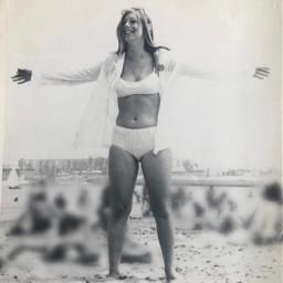lady beach girl