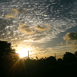 irridescent sunset photography