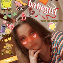 baddie babygirl honey spongebob bear iloveyou freetoedit