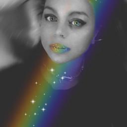 blackandwhite rainbow colorful eccolorsonblackandwhite colorsonblackandwhite