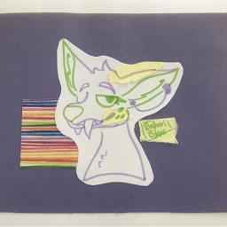 origionalart traditionalart highlighter doodle fangeddoe deer