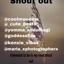 shoutout comment nextshoutout freetoedit