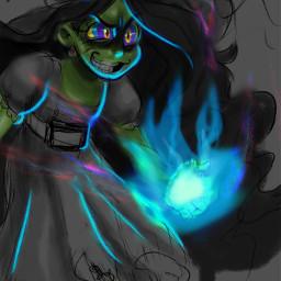 witch witchoc oc art myart artist artstyle digitalart digitalpainting cute doodle sketch freetoedit