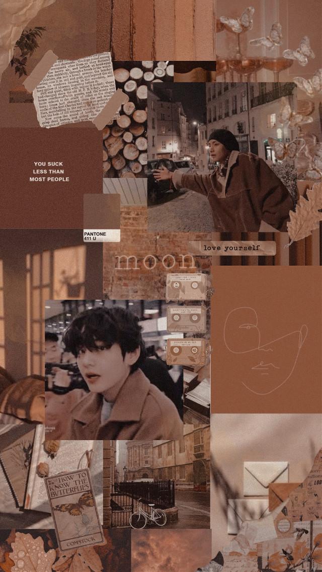 Brown Taehyung #taehyung #brown #wallpaper #brownwallpaper #browntaehyung