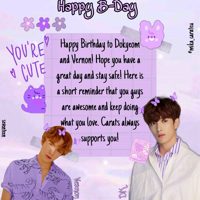 🌌Happy Birthday To Seventeen's DK and Vernon🌌  📆18. February 2021 🕚11:16 a.m.  -mika  #happybirthday #happydkday #happyvernonday #happybday #happybdayvernon #happybdaydk #bday #birthday #edit #dk #dokyeom #svt #seventeen #svtdk #svtdokyeom #seventeendokyeom #seventeendk #vernon #svtvernon #seventeenvernon #svtedit