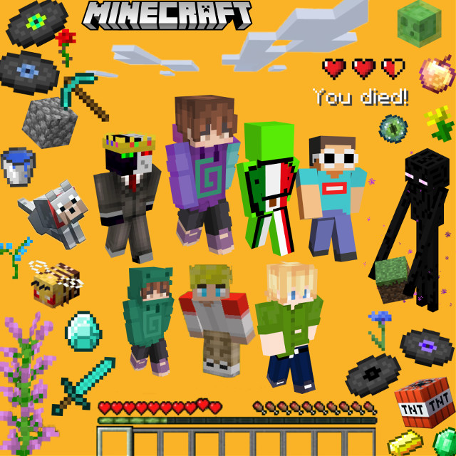 The whole gang is here! If you comment #mcyt then I will like your 20 most recent posts. #art #minecraft #party #dreamsmp #tubbo #karl #gamingyoutuber