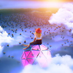 myedit girl sky clouds freetoedit sun fantasy dispersioneffect