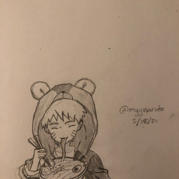 baby naruto eating ramen