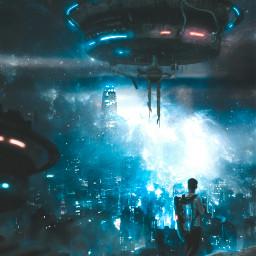 freetoedit unsplash galaxy citygalaxy man