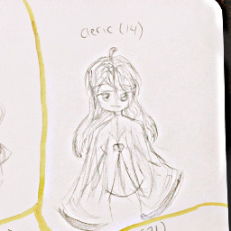 oc backstory art girl traditionalart drawing sketch outline cleric