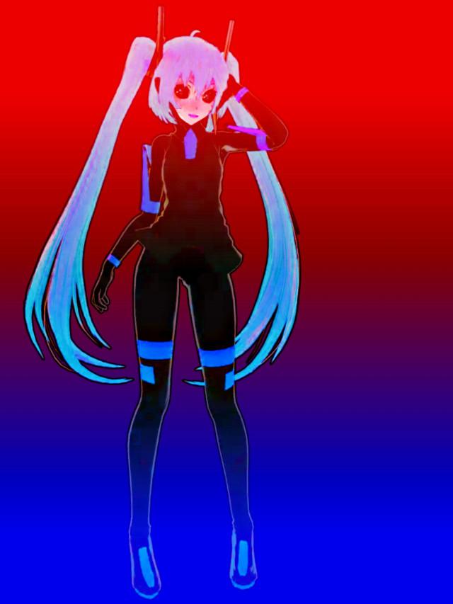 #hatsunemiku #demon #hdr #tda #append #dancer #vocaloid #gradient
