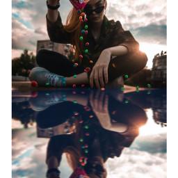 freetoedit unsplash reflectioninwater reflection colourful babe puddlephotography awesome