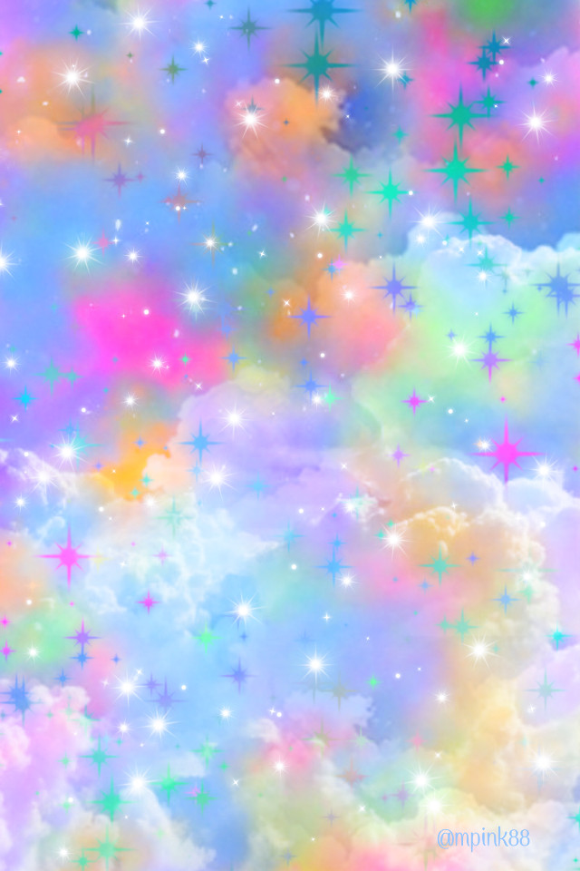 #freetoedit @mpink88 #glitter #sparkle #galaxy #sky #stars #holographic #rainbow #clouds #aesthetic #replay #cute #girly #pastel #art #kawaii #nature #overlay #background #wallpaper