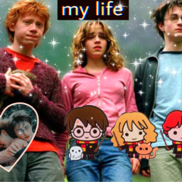 hermione harrypotter ron freetoedit