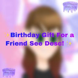 birthdaypresent birthday bestfren bestfriend picture anime hair red pink black hashtagbecausewhynot freetoedit