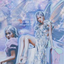 rose park roseanne blackpink fantasy angelic kpopedit blue red kpop angel ice creature aesthetic fairy fairywings wings girl kpopidol korean singer     uksugar singer