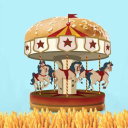 burger bun fries freetoedit ircfilltheburger filltheburger
